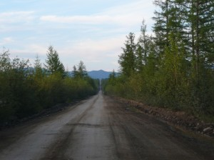Knochenstrasse Blick nach Norden zu den Bergen